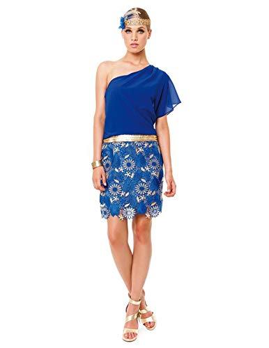 Vestido Olimara Azul 11150338 para Mujer 48 Azul