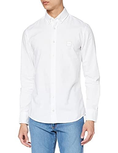 BOSS Mabsoot' Camisa, Blanco (White 00100), X-Small para Hombre