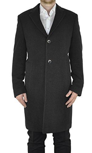 Michaelax-Fashion-Trade Weis - Herren Woll Mantel mit Cashmere Anteil in Anthrazit oder Schwarz, Artikel Berlin (5656), Größe:94, Farbe:anthrazit
