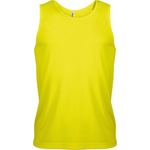 Kariban - Camiseta de deporte transpirable de tirantes para hombre - Running/Gym/Deporte