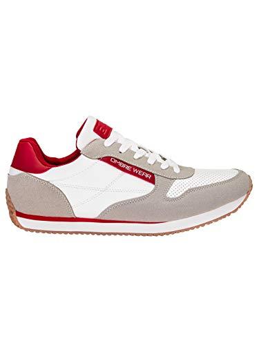 Ombre Herren Sneaker | Gr. 40-45 | Öko-Leder und Textil | Sportliche Outdoor-Schuhe in klassischer Optik | 41 Beige
