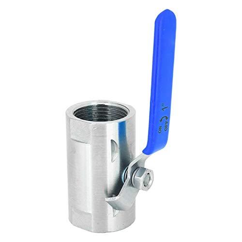 """Válvula de bola ancha con rosca de semi-acero 201 Válvula de flotador de acero inoxidable Accesorio mecánico con mango de vinilo para válvula(DN25 1"""")"""