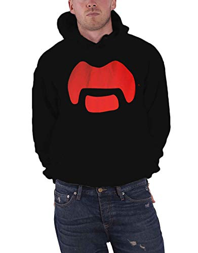 Frank Zappa Kapuzenpullover Moustache Logo Nue offiziell Herren Schwarz Pullover