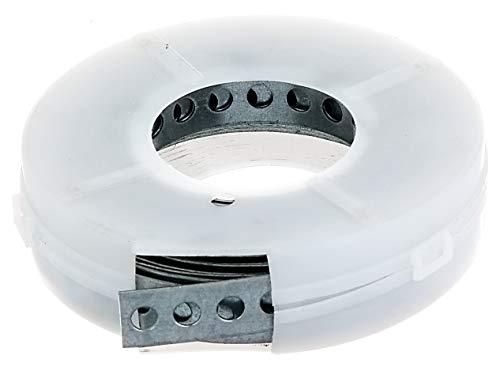 GAH-Alberts 334147 Lochband   mit oder ohne Abrollkasette   sendzimirverzinkt   Breite 12 mm   Länge 3 m