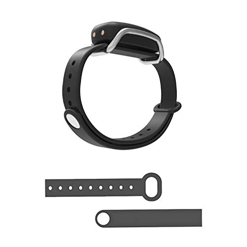 BOND TOUCH Single Vibrating Waterproof Long Distance Connection Bracelet, Silver and Adjustable TPU Silicone Wristband Bracelet, Charcoal Black