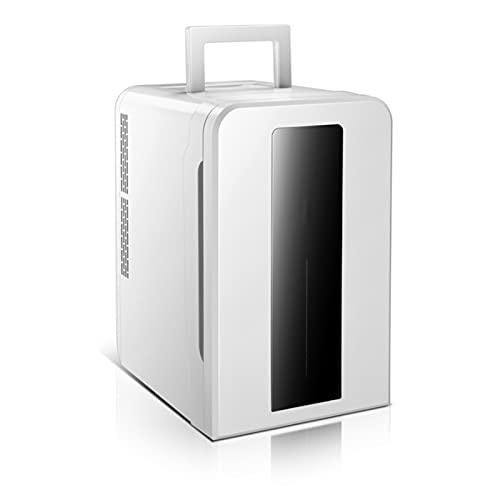 Refrigerador portátil para automóvil, refrigerador de 22 l de doble núcleo de voltaje más cálido para automóvil, dormitorio de estudiantes de una puerta, para el hogar, viajes en automóvil, camping