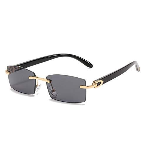 Gafas de sol sin montura, gafas rectangulares, gafas de sol personalizadas, internet femenino Anclismo, fotos, fotos de viaje al aire libre (Color : F)