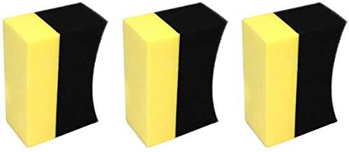 VSLIFE 3 uds. En Forma de U, Cera para neumáticos de Coche, Compuesto para pulir, Esponja para Lavar, Cepillo para Almohadilla de Limpieza Durable
