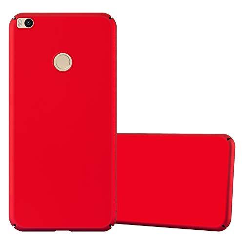 Cadorabo Funda para Xiaomi Mi MAX 2 en Metal Rojo - Cubierta Protección de Plástico Duro Super Delgada e Inflexible con Antichoque - Case Cover Carcasa Protectora Ligera