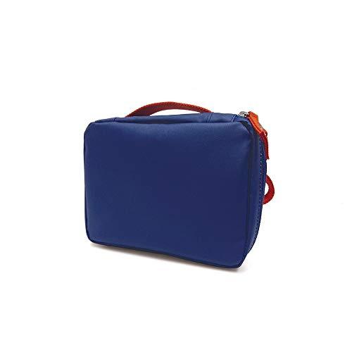 Ekobo, beauty case e borsa per il pranzo in PET riciclato, 20 x 15 x 7 cm, blu reale