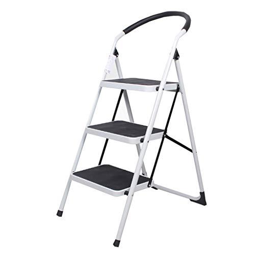 Indoor Escalator Familie Folding Treppen Haushalt Herringbone Leiter verdicken Trittschemel DREI oder Vier Stufen zu erklimmen kleinen Leiter Stabilität und Sicherheit (Color : Red)