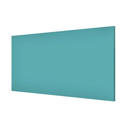 Apalis Magnettafel Colour Türkis Memoboard Design Quer Metall Magnet Pinnwand Motiv Wand Stahl Küche Büro, Größe HxB: 37cm x 78cm