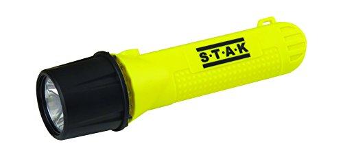 Stak FATEX01 Torcia LED 1W Osram, 60 Lumen, ATEX Zone 0, IP67. per Industrie, stazioni di Servizio, Pompieri, Giallo