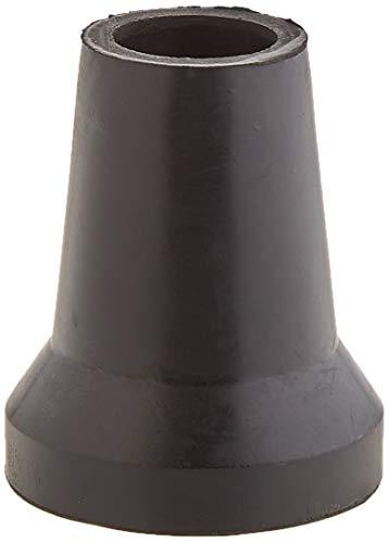 Sysfix Contera de goma negra para muletas y bastones de 19 mm diámetro con arandela metálica - 4 Conteras