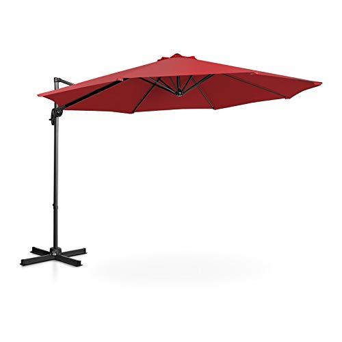 Uniprodo Ombrellone Decentrato Ombrello da Giardino Uni_Umbrella_2R300BO (Bordeaux, Rotondo, Ø 300 cm, Girevole)