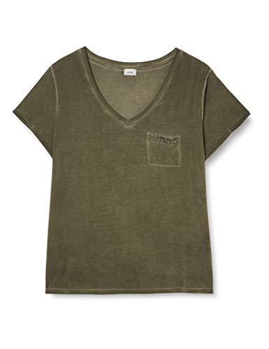 Pimkie Tss20 Trpacide Camisetas de Manga Corta para Mujer, Kaki, XL