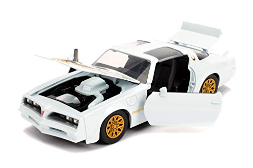 Bigtime Muscle 1:24 1977 Pontiac Firebird Trans AM Die-cast Car Pearl White, Toys for Kids and Adults