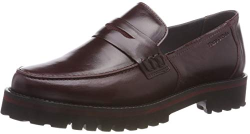 Marc O'Polo Damen Loafer Mokassin, Rot (Bordo 375), 40 EU