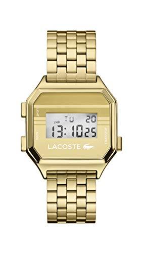 Lacoste Relógio de quartzo Berlim com pulseira de aço inoxidável, tom dourado, 18 (modelo: 2020138)