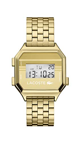 Lacoste Berlin Quartz Watch with Stainless Steel Strap, Gold Tone, 18 (Model: 2020138)