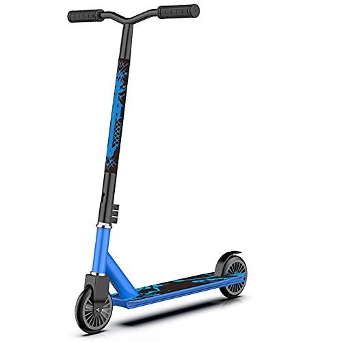Patinete Freestyle Stunt Scooter Stunt Scooter,Patinete Pro Resistente A Las Acrobacias Y Saltos, 100 Kg De Carga,No Plegable, Desmontable,Para Niños O Adolescentes Mayores De 7 Años ( Color : Blue )
