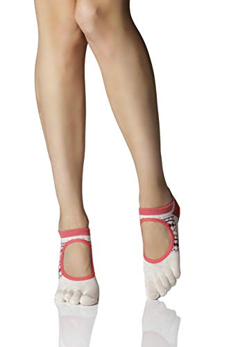 Toesox Bellarina - Calcetines de yoga unisex para adultos, Country, medium