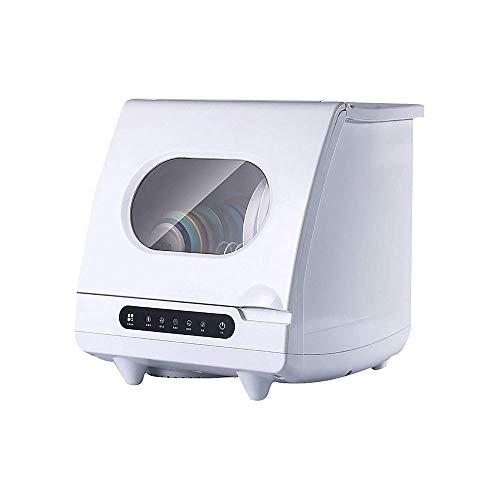 LKNJLL Portable Lave-Vaisselle Countertop, 4 Laver Programmes, intégré 5 litres Réservoir d'eau, Fruits et légumes Nettoyage, Haute température, contrôle Tactile, Fonction de séchage