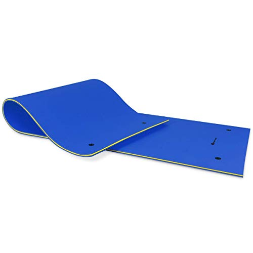 Why Should You Buy Goplus Floating Water Pad for Water Recreation and Relaxing, Tear-Resistant XPE F...