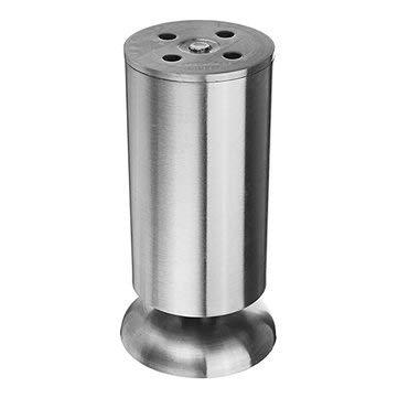 MASUNN hoogte verstelbare meubels been voeten zilver roestvrij staal ondersteuning voor tafel bed bank niveau stoel, 12cm, 1