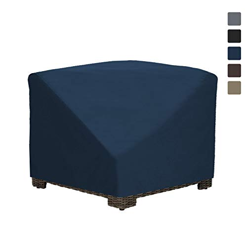 Patio Corner Sectional Cover 12 Oz Waterproof - 100% UV & Weather Resistant Patio Chair Cover with Air Pockets and Drawstring for Snug Fit (34W x 34D x 30H, Blue)