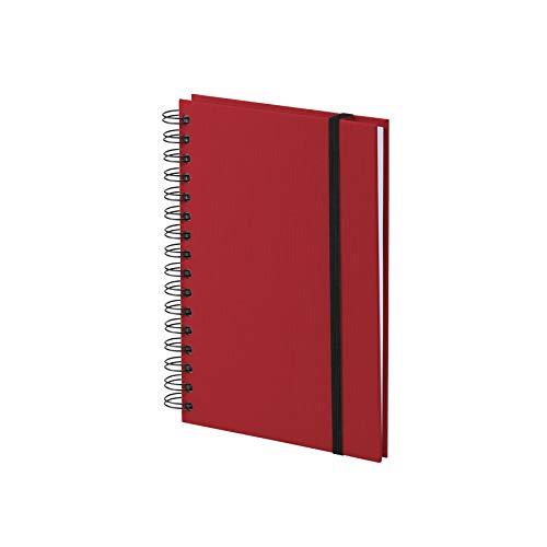 Rössler 1875452361 - S.O.H.O. Wire-O Notizbuch A5 mit Gummizug, 80 Blatt, rot