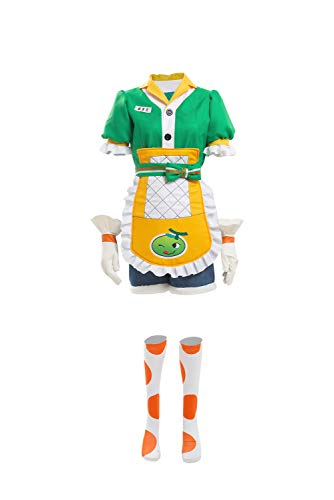 COSMOVIE Womens OW Cosplay Halloween Costumes Mei Honeydew Skin Dress Up Outfit Green