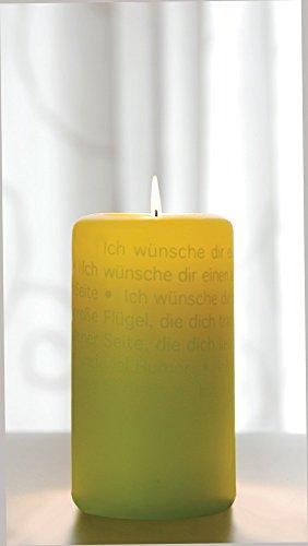 WORTlicht Kerze Leuchtende Wünsche zur Geburt