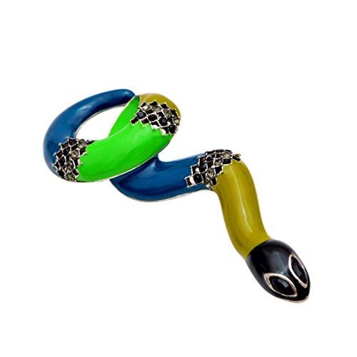 FISH4 3 Colores Elegir broches de Serpiente Grandes esmaltados para Mujer diseño de Primavera alfileres de Animales de Moda Regalo Creativo de Calidad