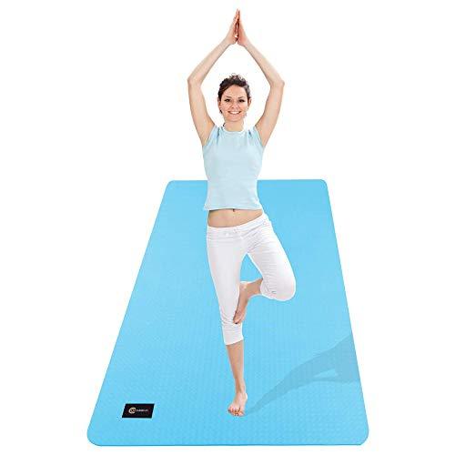 CAMBIVO Esterilla de Yoga Extra Grande, Yoga Mat con Correa de Transporte, Colchoneta Gimnasia Antideslizante para Yoga, Pilates, Gimnasio, Deporte, Ejercicio en Casa (185 x 91 x 0,6cm)