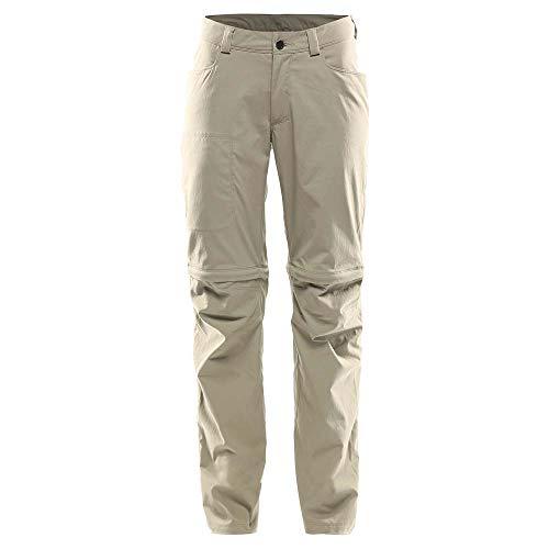 Haglöfs Lite Pantalon Convertible par Zip Femme, Lichen Modèle EU 44 2020