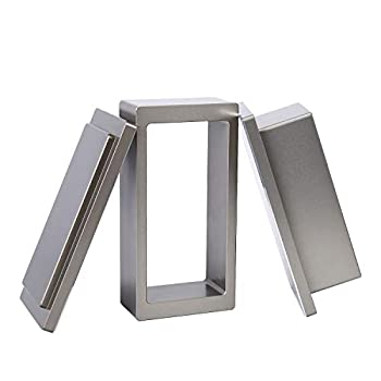 2x4 Inch Pre Press Mold Made of Food Grade Anodized Aluminum - Pair It with 2-Inch Width Filter Bags