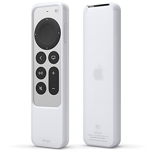 elago Funda R2 Delgada Compatible con Apple TV 4K Siri Remote 2nd Generación (2021), Diseño Delgado, Peso Ligero, Silicona sin Arañazos, Absorción de Impactos (Luminoso Azul)
