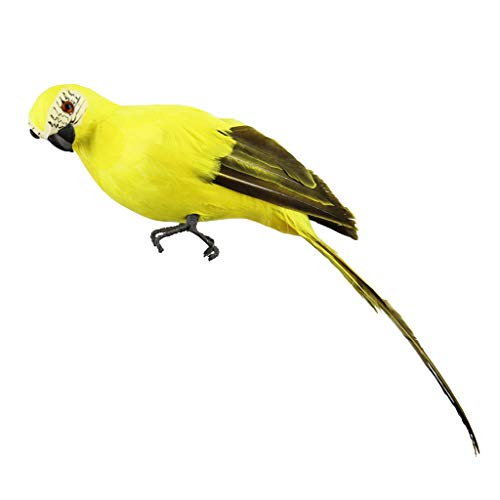 Fan-Ling Colorful Fake Parrots,Artificial Birds Model Outdoor Home Garden Lawn Tree Decor,Garden Yard Outdoor Indoor Art Crafts Decor,Cute Craft Decorative Ornaments for Home Table Decoration (D)