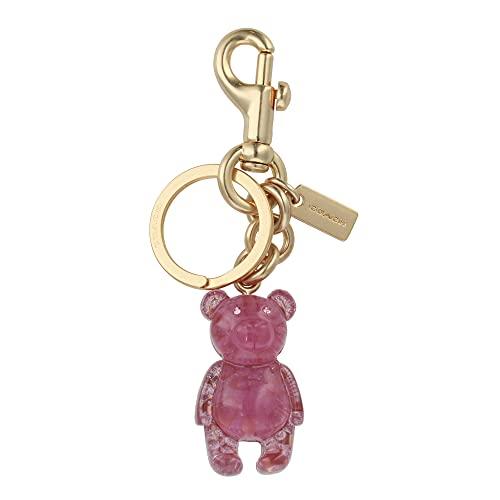 [コーチ] キーホルダー ベアー チャーム キーフォブ COACH Signature Bear Charm Key Fob 5105 IM/Pink [並行輸入品]