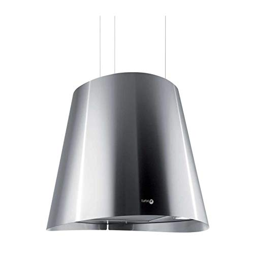 Hotte decorative ilot Turboair PRF0005291 - Hotte aspirante Lustre - largeur 50 cm - Débit d'air maximum (en m3/h) : 581 - Niveau sonore Décibel mini. / maxi. (en dBA) : 48 / 68