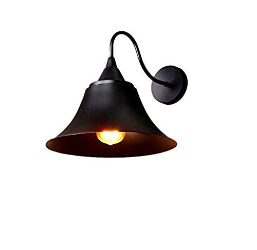 Lampe Metall schwarz fertig Schüssel geformte Lampe Leuchte Bauernhaus Wandleuchte Vintage Edison Wandlampe für Badezimmer