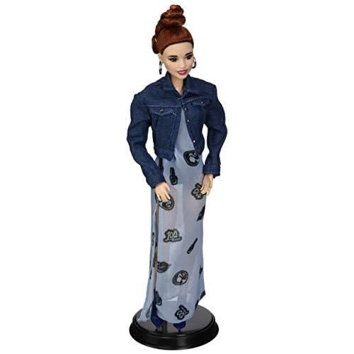 Barbie- Styled by Marni Senofonte Bambola da Collezione con Gilet Denim, Vestito Lungo e Accessori, per Bambini 6+ Anni, Multicolore, FJH76