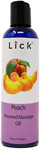 Peach Flavored Massage Oil for Couples Edible Massaging Lotion with Vitamin E and Sweet Almond product image