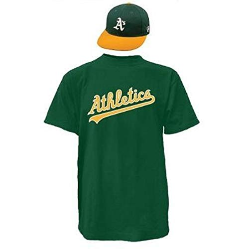 Majestic Combo Youth Cap/Youth Medium Jersey with Oakland Athletics Green
