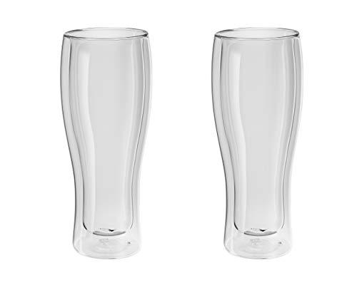 Zwilling ツヴィリング 「 ダブルウォール グラス ビア 410ml 2pcs セット 」ビール タンブラー 耐熱 二重構造 タンブラー 【日本正規販売品】 39500-214