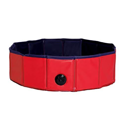 dibea Hundepool aus PVC, Schwimmbecken für Hunde, Hundebad, Wasserbecken für Hunde (Größe wählbar) (S (80cm Ø))