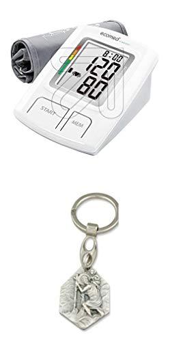 Zisa-Kombi Oberarm-Blutdruckmessgerät ecomed BU-92E mit Anhänger Hlg. Christophorus