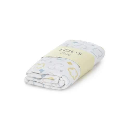TOUS BABY - Muselina con Estampado de Flores y Osos para tu bebé. (0 a 36 Meses) (Amarillo)