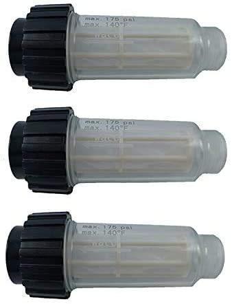 3X Filtro de Agua Que Incluye Inserto de Filtro (5.731-050.0) para Todas Las lavadoras a presión Karcher con conexión de Agua de 3/4 de Pulgada como Karcher K2-K7 Compatible con 4.730-059.0